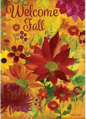 Fall Floral - Garden Flag - 12.5