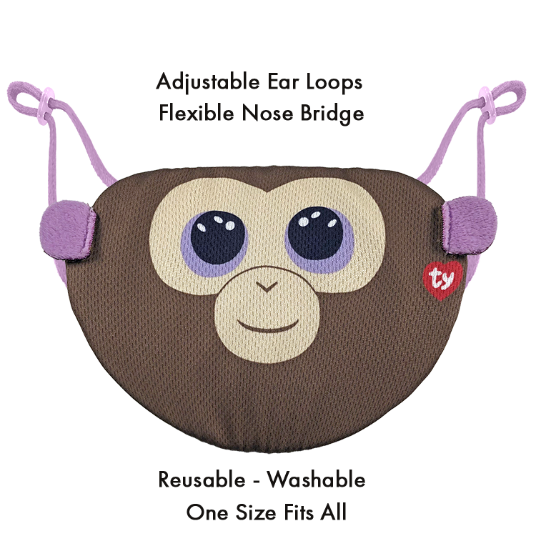 Beanie Boo Children's Mask - Coconut - Ty