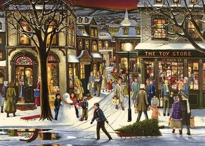 Downtown Christmas Tray Puzzle - 35 pieces - Cobble Hill