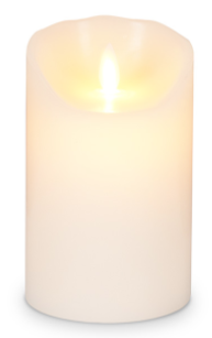 Ivory - Medium 3 x 7 inch Reallite Flameless Candle with Timer - moving flame