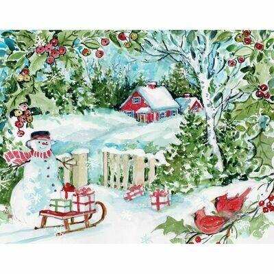 Lang Christmas Cards - Winter Woods - 18 per Box