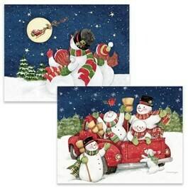Lang Christmas Cards - Up and Away - 2 Designs - 18 per Box