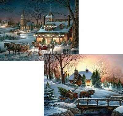 Lang Christmas Cards - Evening Rehearsals - 2 Designs - 18 per Box