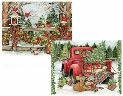 Lang Christmas Cards - Christmas Journey - 2 Designs - 18 per Box