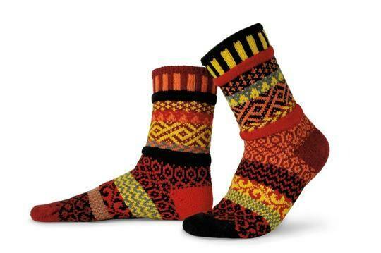 Fire - Large - Mismatched Crew Socks - Solmate Socks