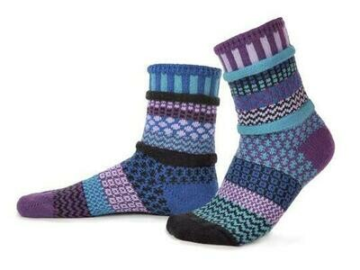 Raspberry - Large - Mismatched Crew Socks - Solmate Socks