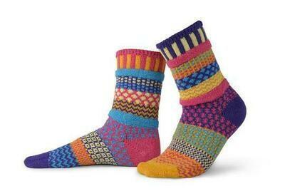 Sunny - Medium - Mismatched Crew Socks - Solmate Socks