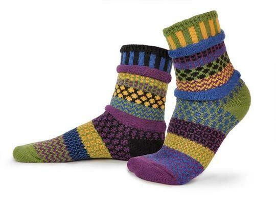 October Morning - Large - Mismatched Crew Socks - Solmate Socks