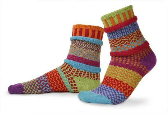 Cosmos - Large - Mismatched Crew Socks - Solmate Socks
