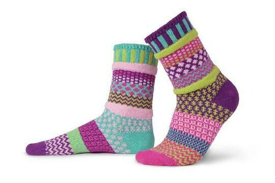 Dahlia - Large - Mismatched Crew Socks - Solmate Socks