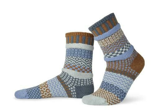 Foxtail - Large - Mismatched Crew Socks - Solmate Socks