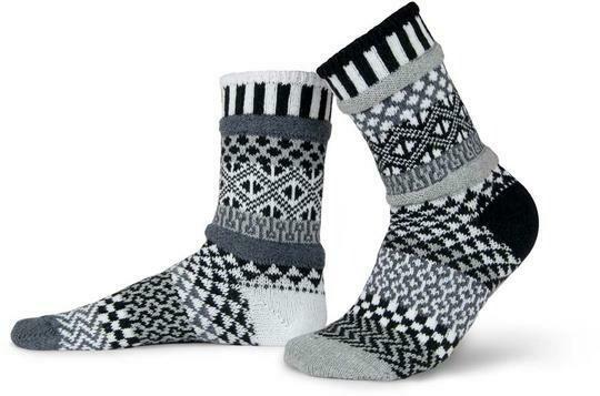 Midnight - Large - Mismatched Crew Socks - Solmate Socks