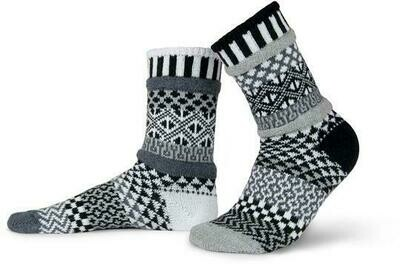 Midnight - Large - Mismatched Crew Socks - Solmate Socks