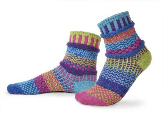 Bluebell - Large - Mismatched Crew Socks - Solmate Socks