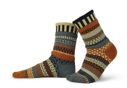 Nutmeg - Large - Mismatched Crew Socks - Solmate Socks