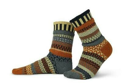 Nutmeg - Large - Mismatched Crew Socks - Solmate Socks