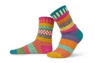 Saffron - Extra Large - Mismatched Crew Socks - Solmate Socks