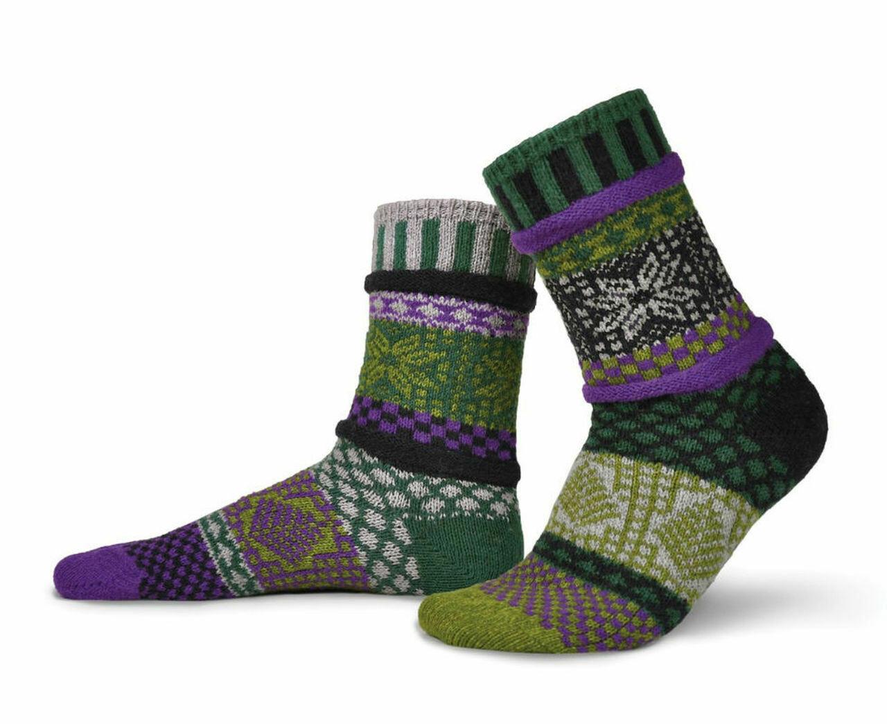 Balsam - Medium - Mismatched Crew Socks - Solmate Socks