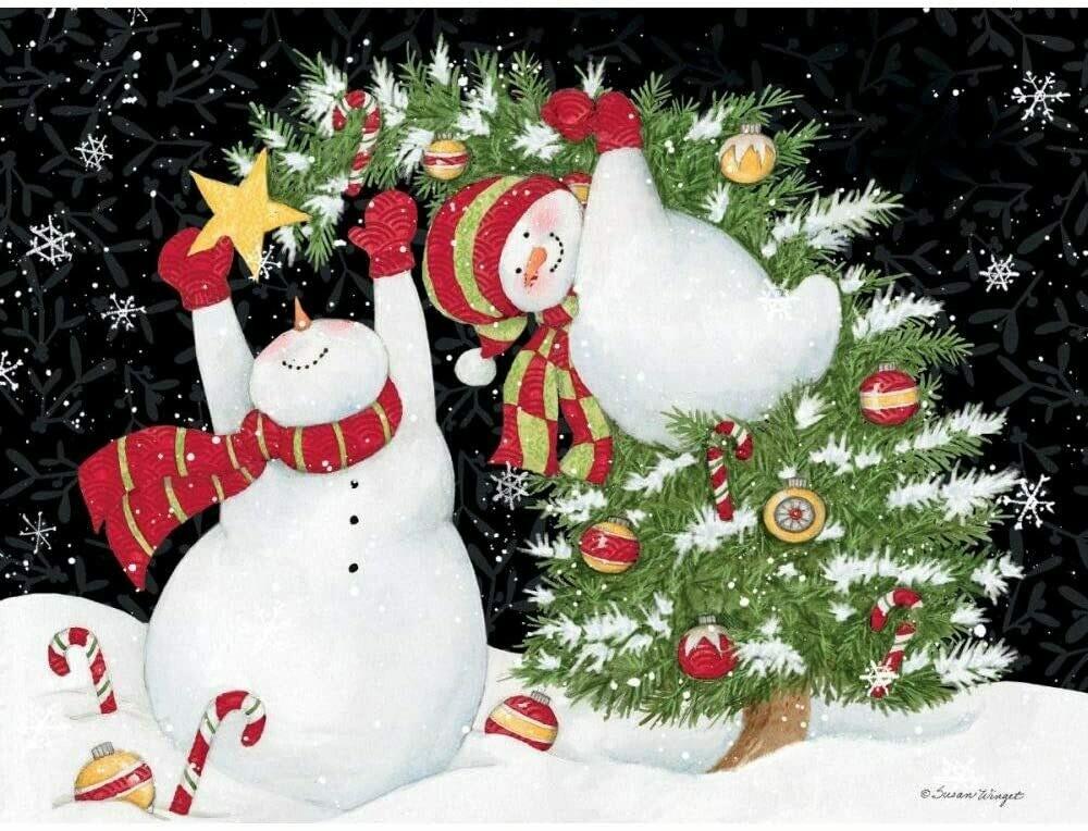 "Lang Christmas Cards Classic - Decorating Fun - 12 per Box - 6"" x 4.5"""