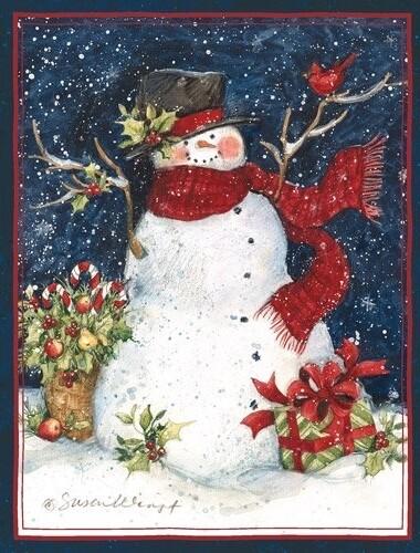 Lang Christmas Cards - Snowman Scarf - 18 per Box