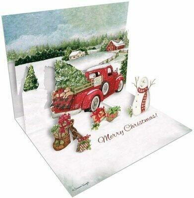 Lang Christmas Cards Pop-Up - Santa's Truck - 8 per Box - 5