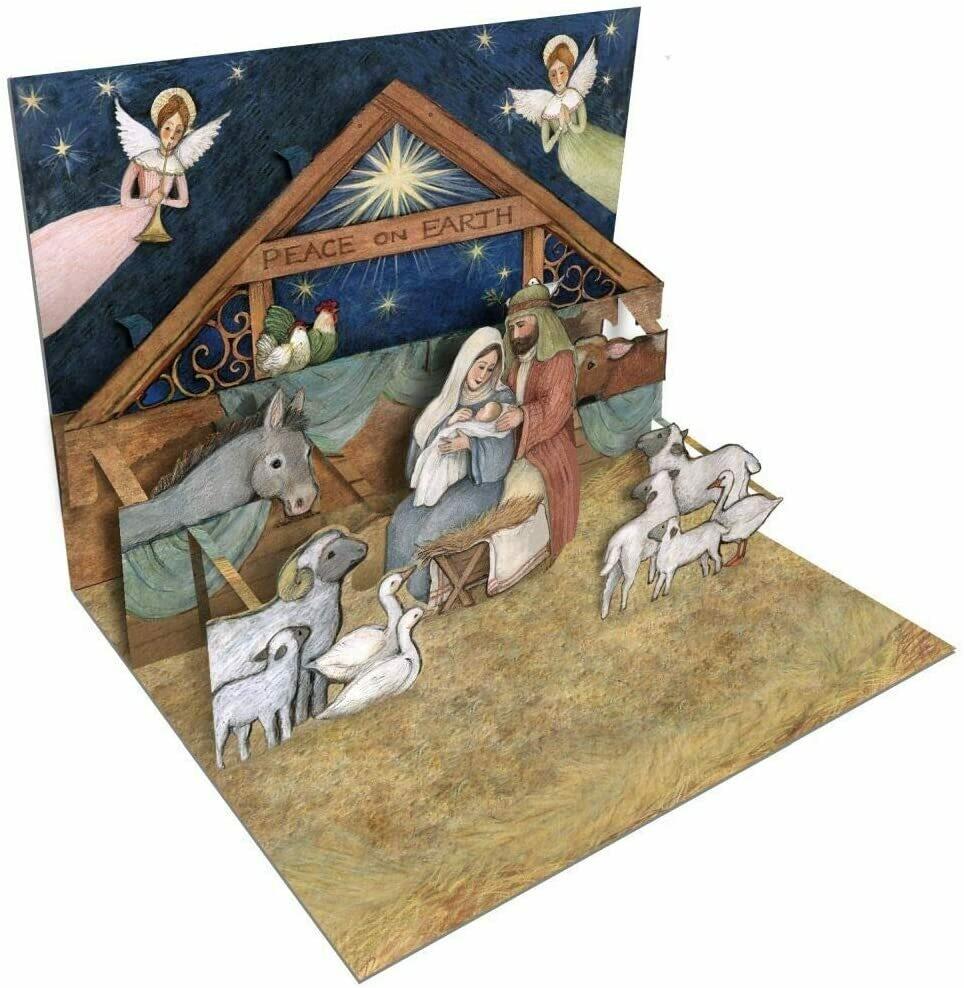 "Lang Christmas Cards Pop-Up - Nativity - 8 per Box - 5"" x 6.5"""