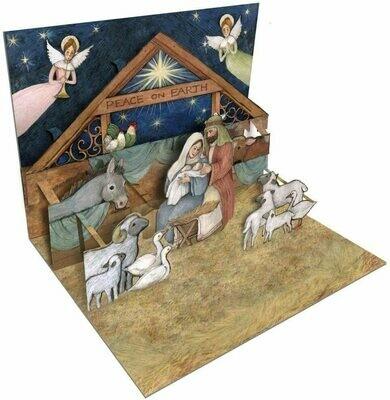 Lang Christmas Cards Pop-Up - Nativity - 8 per Box - 5