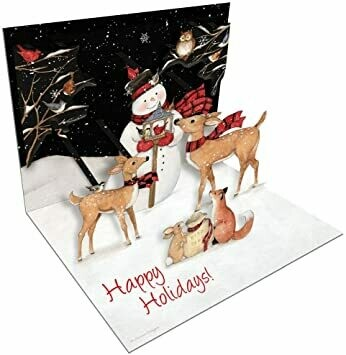 "Lang Christmas Cards Pop-Up - Sam Snowman - 8 per Box - 5"" x 6.5"""