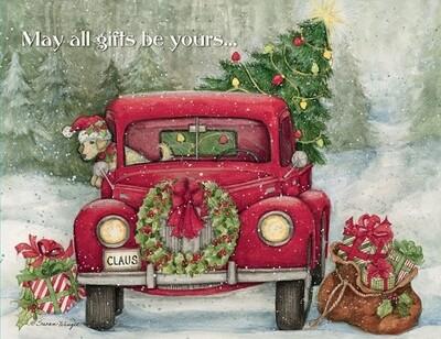 Lang Christmas Cards - Santa's Truck - 18 per Box
