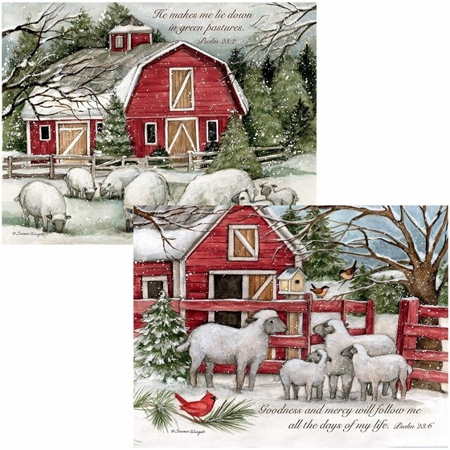 Lang Christmas Cards - The Lord is My Shepherd - 2 Designs - 18 per Box