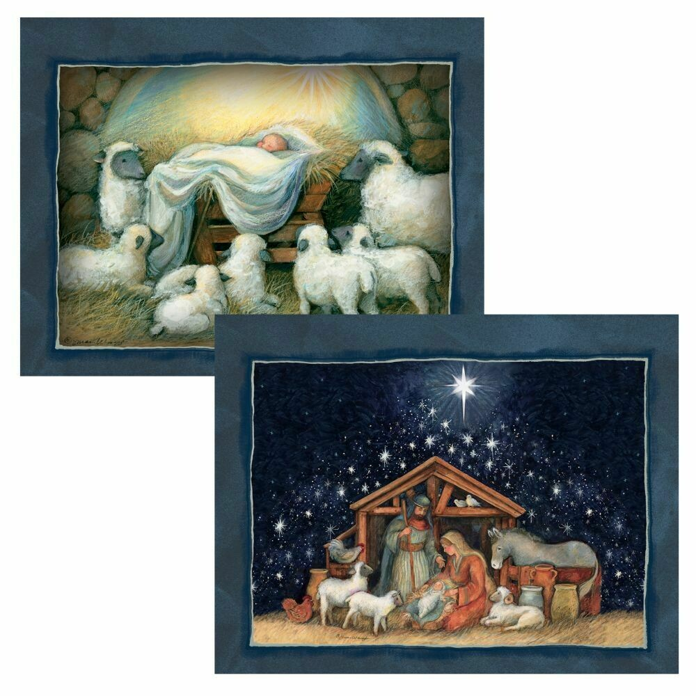 Lang Christmas Cards - Nativity - 2 Designs - 18 per Box