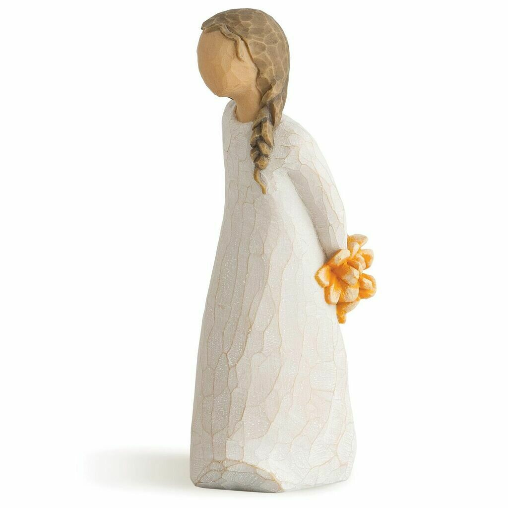 Willow Tree: For You - Girl Holding Flowers Behind her Back
