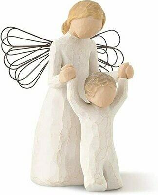 Willow Tree: Guardian Angel - Angel helping child walk  - Wire Wings
