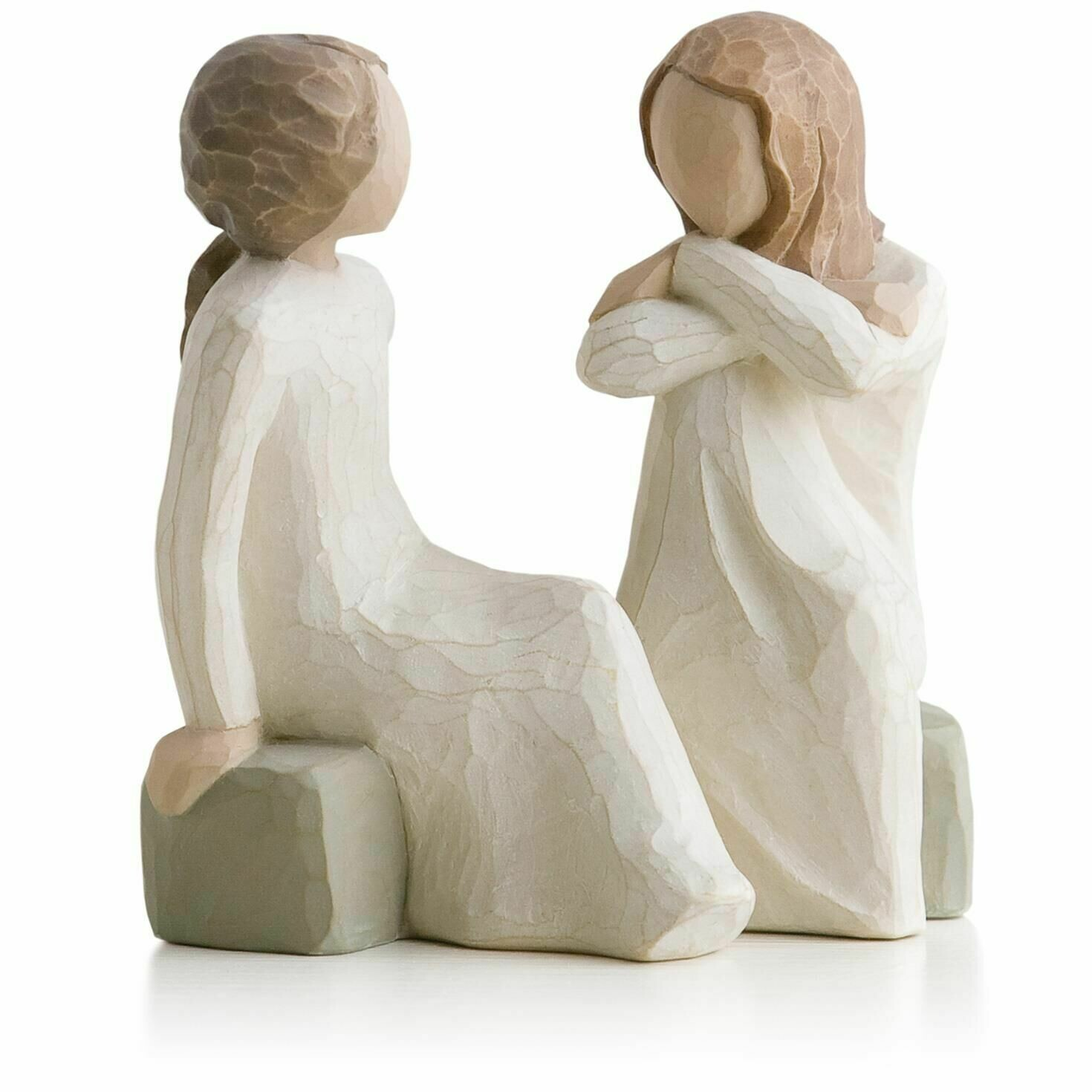 Willow Tree: Heart and Soul - 2 Girls Sitting Facing Each Other