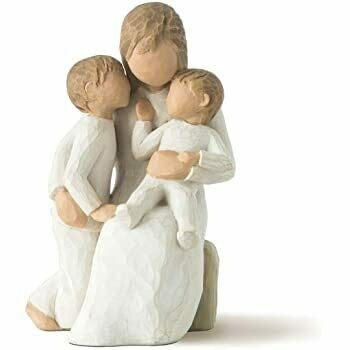 Willow Tree: Quietly - Mother sitting with two children  - a boy and toddler