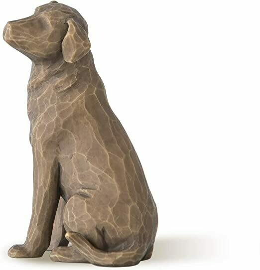Willow Tree: Love My Dog - Dark Brown Dog