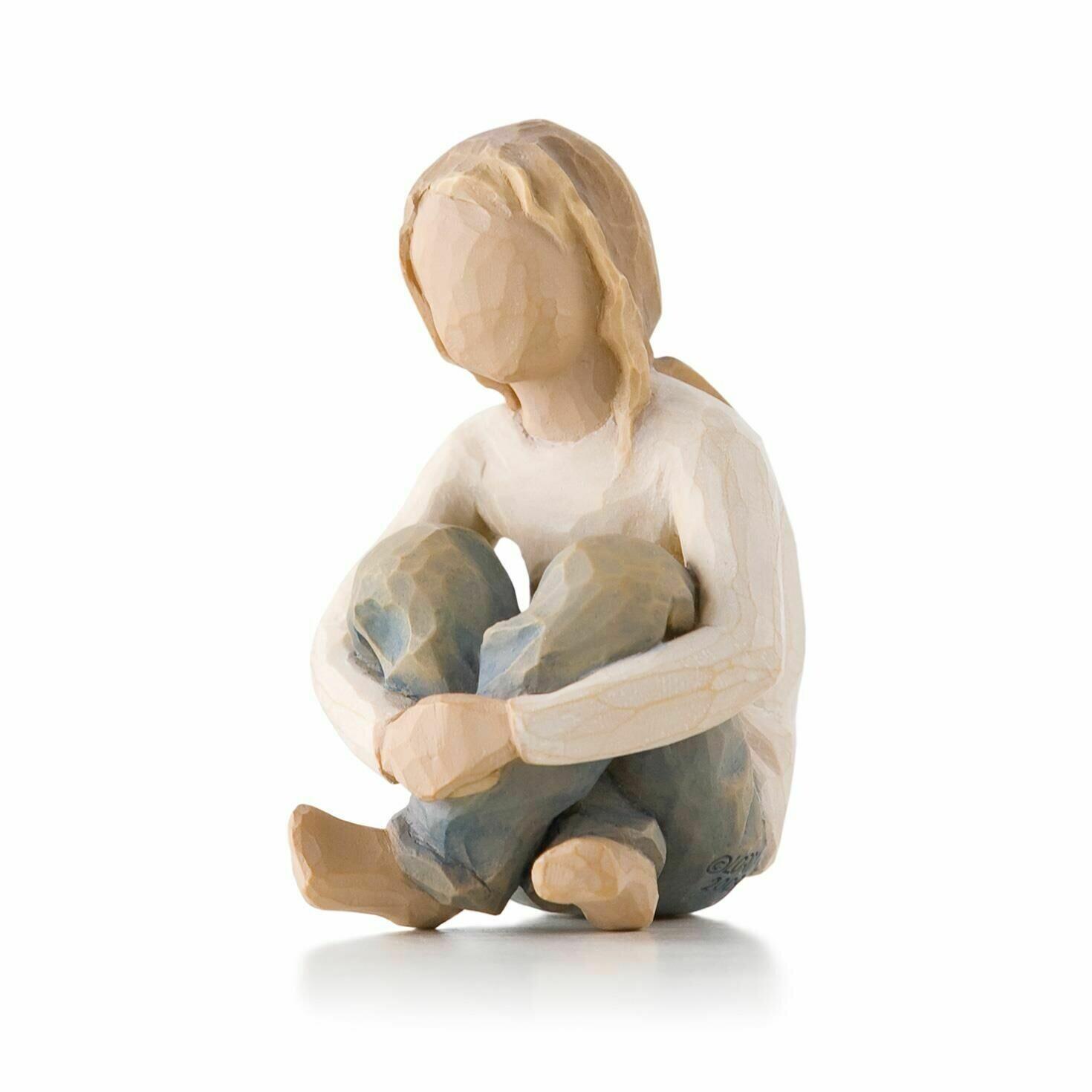 Willow Tree: Spirited Child - Girl Sitting Crossed Legged