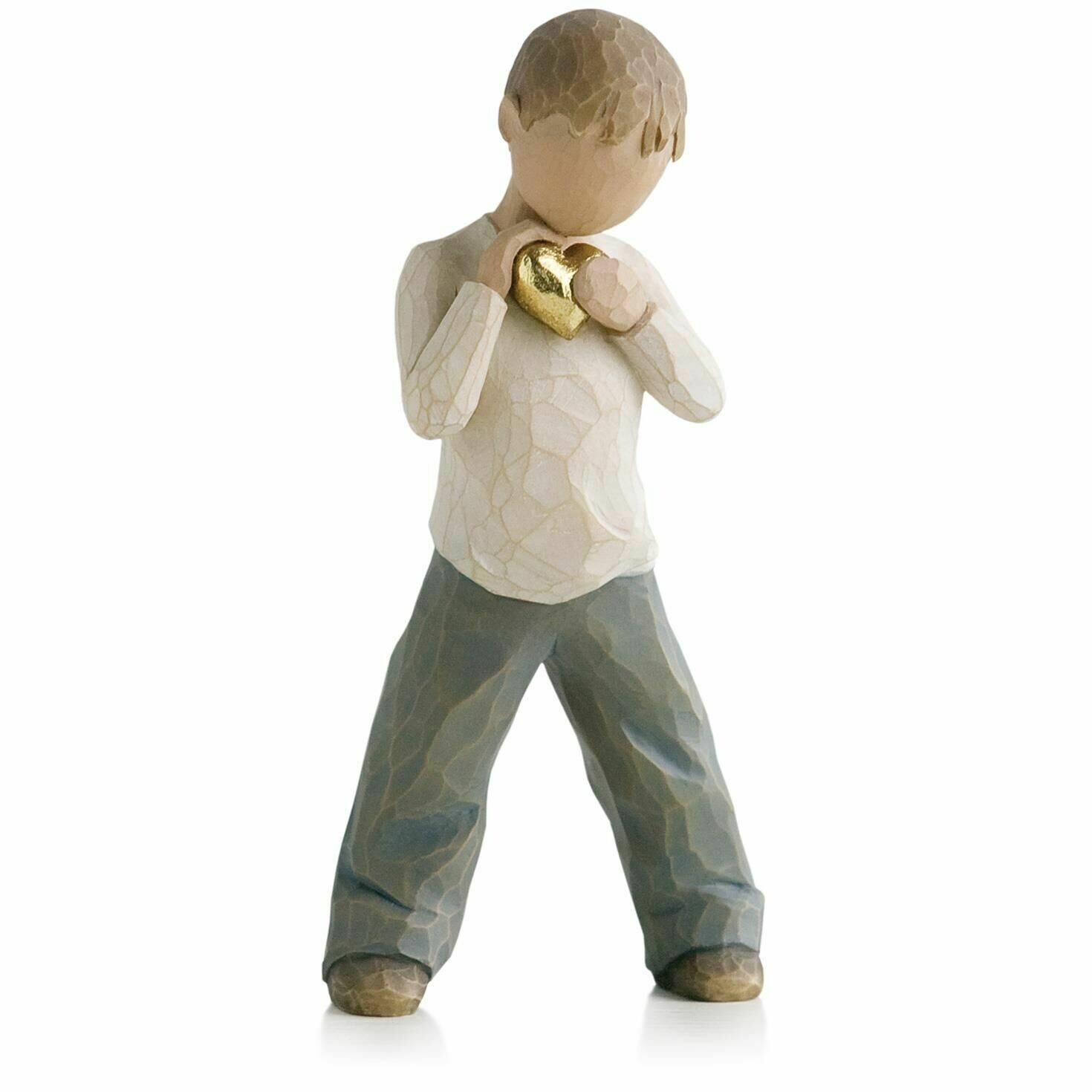Willow Tree: Heart of Gold - Little Boy Holding Gold Heart