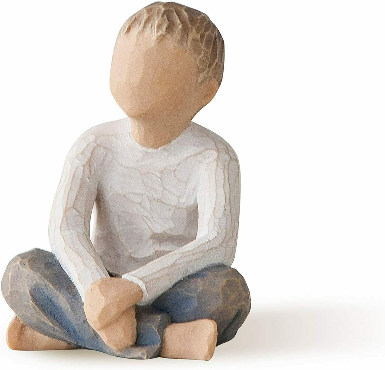 Willow Tree: Imaginative Child - Boy Sitting Crossed Legged