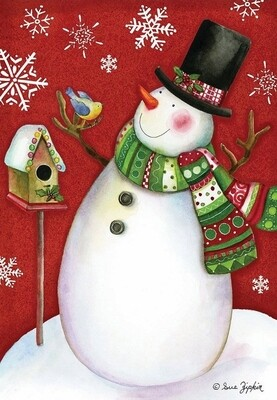 Frosty Friends - Snowman - House Flag - 28