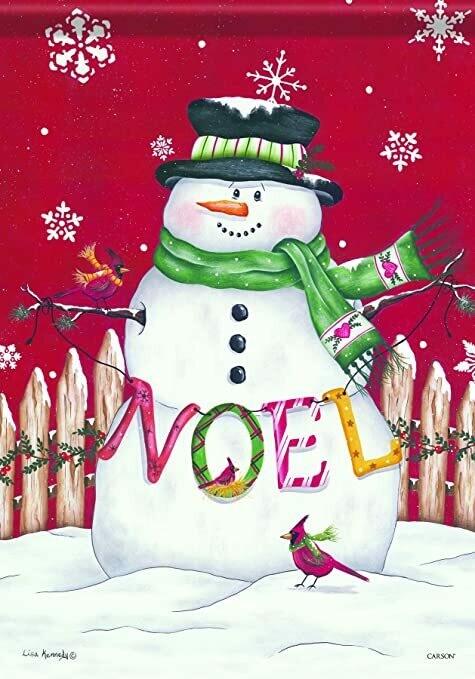 "Noel Snowman - House Flag - 28"" x 40"""