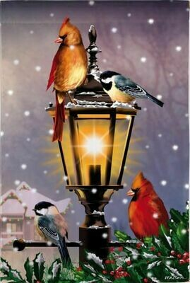 The Gathering - Birds on Lamp Post - House Flag - 28