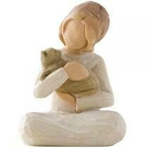 Willow Tree: Kindness Girl - Sitting Holding Cat