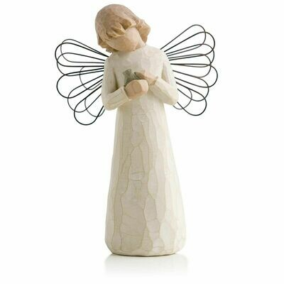 Willow Tree: Angel of Healing - Holding Little Bird - Wire Wings