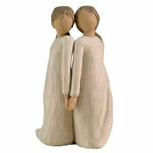 Willow Tree: Two Alike - Two Girls Standing Back to Back