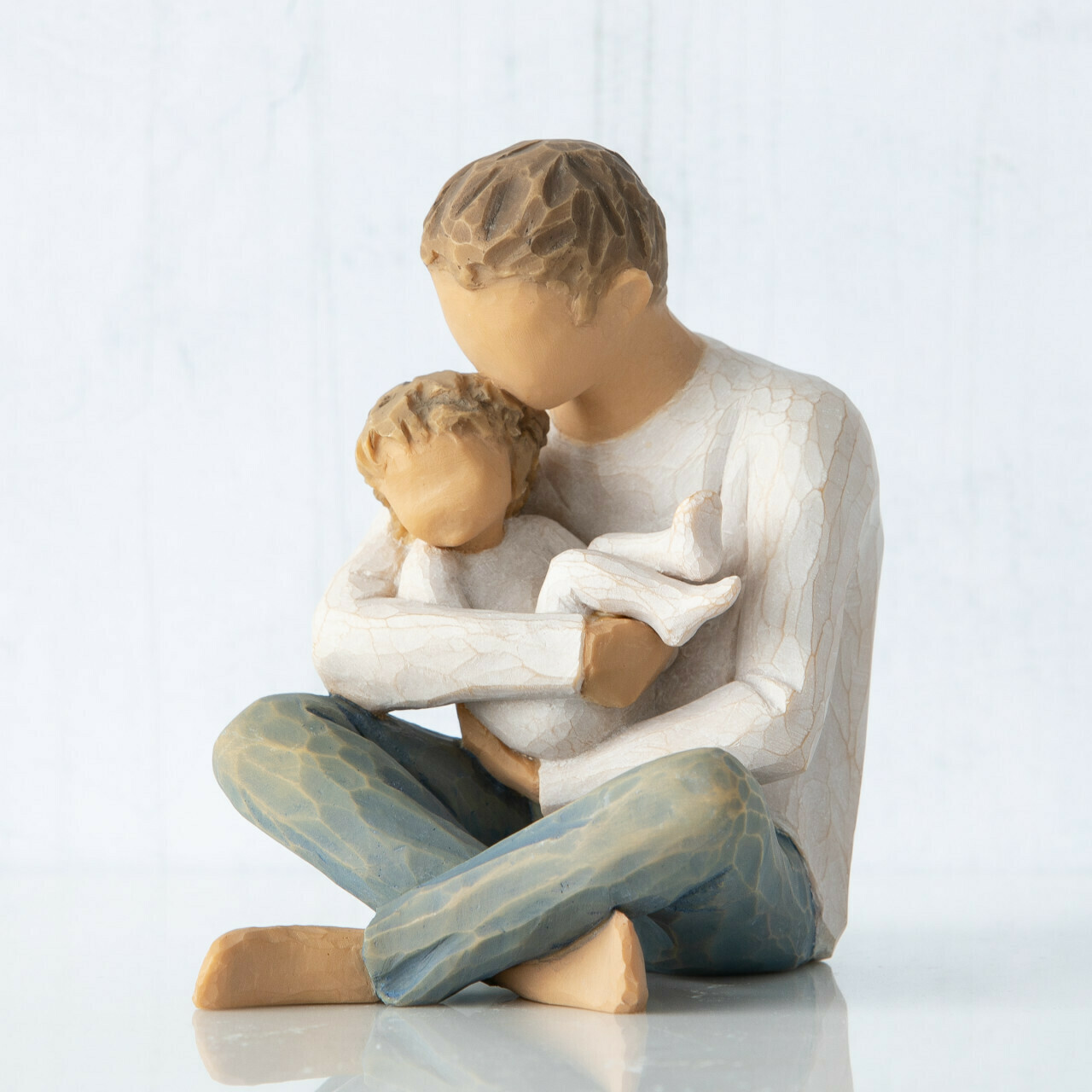 Willow Tree: Little One - Father on floor holding Toddler