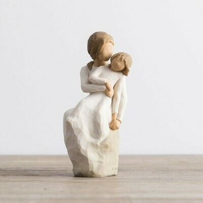 Willow Tree: Mother / Daughter - Mother with daughter on lap - fun loving design