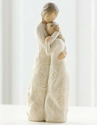 Willow Tree: Close to me  - Mother Holding Daughter - Designed Dresses