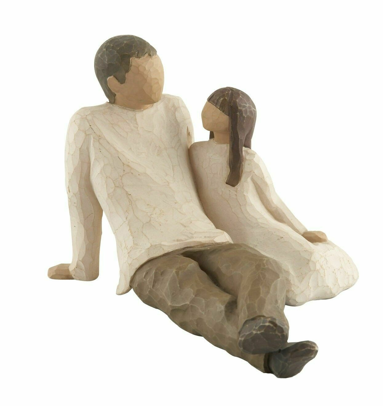 Willow Tree: Father and Daughter - Father sitting with daughter