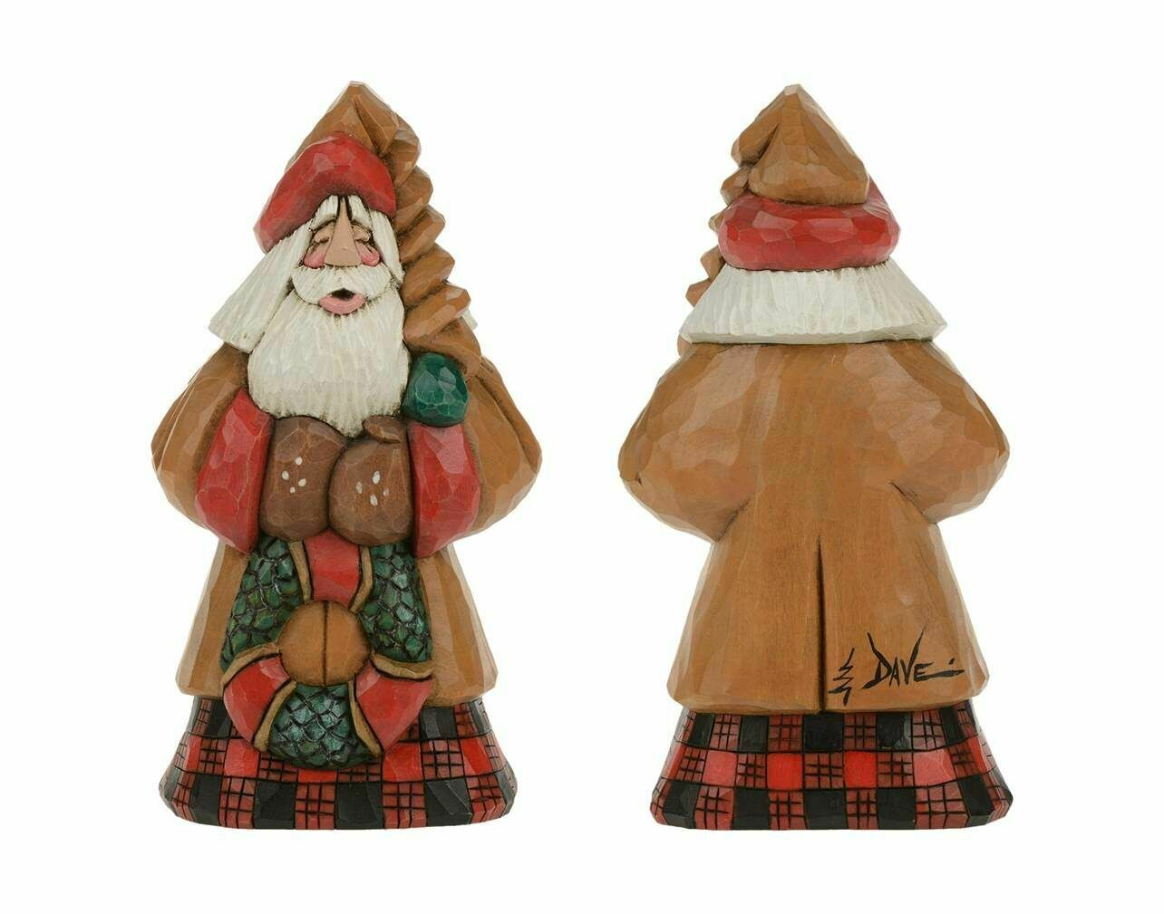 Cottage Carvings Wreath Santa - 7 inches - Canadian Artist Dave Francis